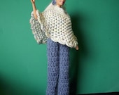 Crochet Freedom Poncho Jumpsuit Barbie Boots