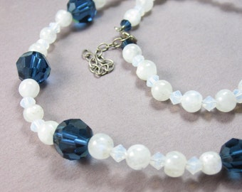 Montana Strand - Moonstone and Swarovski Crystal Necklace