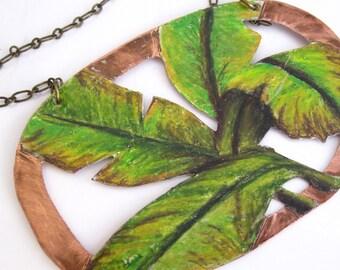 Banana Plant Necklace
