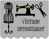 Vintage Dressmaker Cut Files -- svg, jpg, pdf, ai, png, etc.
