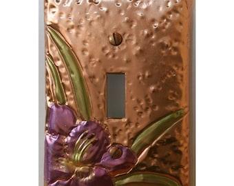 Beautiful Purple Stardust Daylily Light Switch Plate