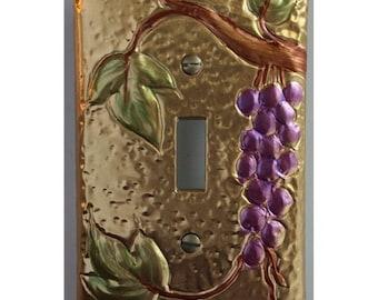 Brass Tuscan Design Grape Switch Plate