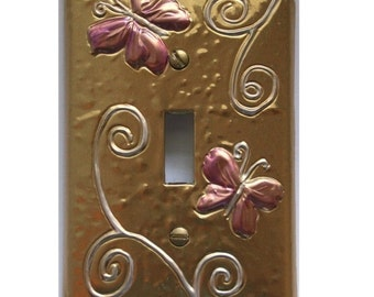 Brass Light Switch Cover Plate Butterfly Custom Orders Welcome