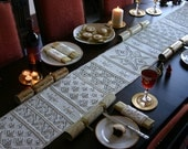 Snow Forest Yuletide Table Runner and Napkin Rings Set Pattern - PDF