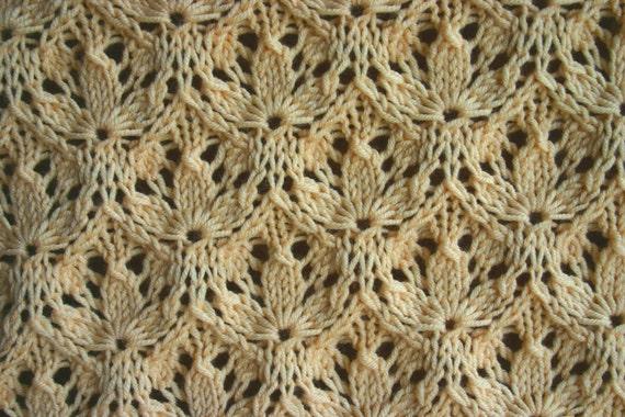 Starflower Estonian Lace Baby Blanket Pattern - PDF