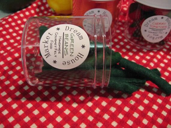 Gourmet felt Green Beans in a  jar