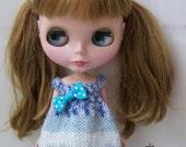 OOAK--Sea wave dress for Blythe doll