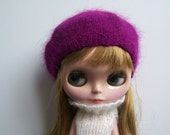 Babydoll Longhair Angola Wool Beret for Blythe Doll