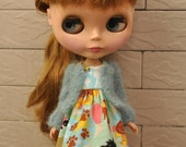Spring New Designed Babydoll Sweater/cardigan for Blythe/Dal -Bluebird
