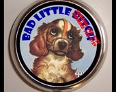 Bad Puppy Pill Box Case Pillbox Holder Naughty Pup Gift for Dog Lovers Pet Owners Funny Saying Trinket Box Holds Vitamins Medicine