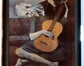 1903 Surrealistic Artwork Painting Old Guitarist Decrepted Zombie Black Metal Cigarette of ID card or Wallet