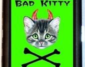 Bad Kitty Cigarette Case Business Card Holder Wallet