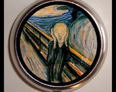 The Scream Munch Pill Box Case Holds Pills Vitamins Guitar Pics Medicine Edvard Munch Expressionist Fine Art Goth Gothic Horror Art