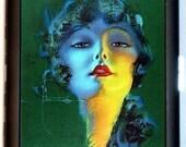 Flapper Artwork Portrait Jazz Age Art Deco Cigarette Case Business Card Holder Wallet
