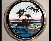 Hiroshige Japanese Landscape Pill Box Case