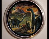Dinosaur Pill box Prehistoric Pillbox Pill Case Birth Control Box Holder Paleontology Brontosaurus Jurrasic