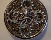 OCTOPUS MECHANICUS Steampunk Victorian Clock Pill Case or Trinket Box NEW Watch Gears