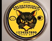 Black Cat Ouija Board Pill Box Case Retro