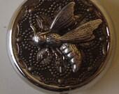 Victorian Steampunk Flight of the Honeybee Pill Case Or Trinket Box