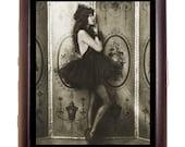Ballerina Cigarette Case Business Card Case wallet Art Deco