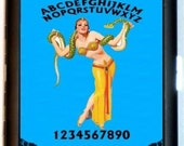 Ouija Fortune Teller Snake Charmer Cigarette Case Business or ID Case Wallet Occult Gypsy Sideshow Freak Circus
