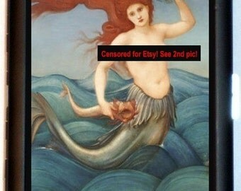 Topless Mermaid Cigarette Case Business Card Holder Wallet Strong Woman Feminist Nautical