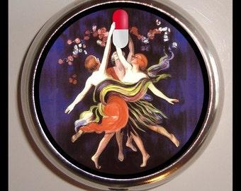The Three Graces Pill Box Pill Case Retro Humor pillbox