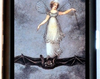 Fairy Angel Riding a Bat Cigarette Case Business Card Case Wallet Sweetheartsinner