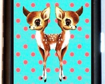 Siamese Twins Kawaii Deer Cigarette Case Wallet Business Card Baby Doe Conjoined Animals Surreal Lowbrow Juxtapoz Pop Art Psychobilly