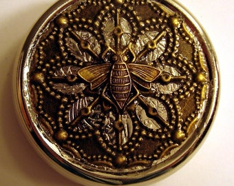Victorian Steampunk THE BRASS BEE Pill Case Or Trinket Box