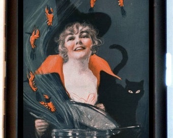 Halloween Witches Brew Cigarette Case Wallet Business Card Case