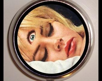 Third Eye Pill box Weird Pinup Pyschobilly Woman Pillbox Case Holder Sweetheartsinner New