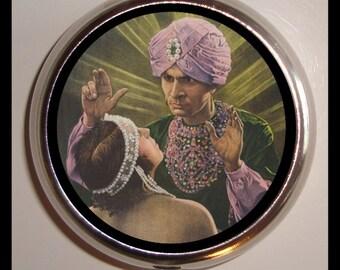 Swami Hypnotist Occult Pill box Pillbox Case Holder Pyschobilly Sweetheartsinner