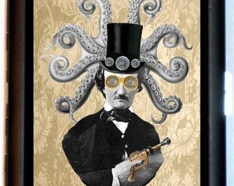 Edgar Allan Poe Steampunk Cigarette Case Business Wallet