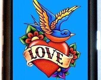 Swallow Love Tattoo Cigarette Case Lovebird Rockabilly Old Tattoo Flash Retro Romantic ID Business Card Credit Card Holder Wallet