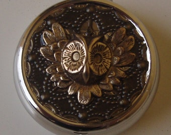 Victorian Steampunk Owl Always Be King  Pill Case Or Trinket Box NEW