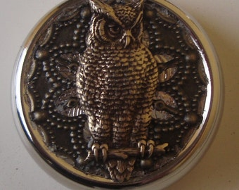 Victorian Steampunk Owl Love You Forever Pill Case Or Trinket Box