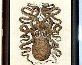 Victorian Octopus Cigarette Case Steampunk Haeckel Oddity Victoriana Biology Nautical Ocean ID Business Card Credit Card Holder Wallet