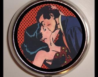 Comic Book Romance Pill Box Case Sweetheartsinner Retro Box