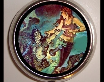 Tales of the Zombie Pillbox Pill Box Case Holder New Zombies Apocalypse Horror Goth Psychobilly Holds Guitar Picks Medicine Vitamins