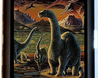 Dinosaur Cigarette Case or ID Business Card Holder Prehistoric Science Paleontology NEW Wallet
