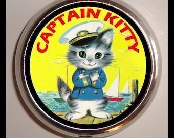 Cute Kitty Cat Pill Box Case Pillbox Vitamin Holder Kawaii Kitsch Children's Book Illustration Cat Lover Gift Trinket Box birth control case
