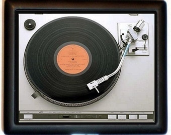 Turntable Record Player Cigarette Case LP Vinyl Album Gift for DJ Retro Pop Art Technology ID Business Card Credit Card Holder Wallet