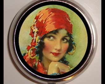 Gypsy Girl Pill box Pillbox Case Holder Trinket Box Sweetheartsinner NEW
