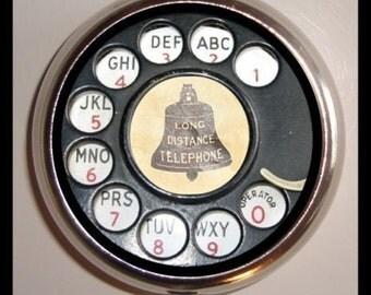 Rotary Phone Telephone Pill box Pillbox Case Dial Design Pop Art Pill Case Retro Technology Techie Trinket Box Hipster