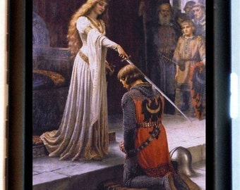 Guinevere & Lancelot King Arthur Cigarette Case Business Card Case Wallet Medieval Times