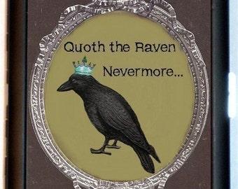 Edgar Allan Poe Raven Cigarette Case Wallet Goth Gothic Literature Victorian Raven