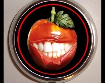 Tomato Face Pill box Pillbox Case Vegetarian or Vegan Happiness Medicine organizer
