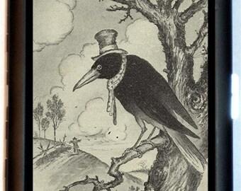 Hobo Crow Blackbird Raven Cigarette Case Business Card Case Wallet