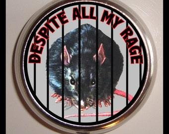 Pet Rat Pill Box Case Pillbox Sweetheartsinner Despite All My Rage Cage Pet Rats Lover Punk Goth Holds Vitamins Guitar Picks